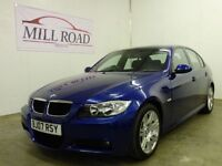 BMW 3 SERIES 2.0 320D M SPORT 4d 161 BHP 0% DEPOSIT FINANCE AVA (blue) 2007