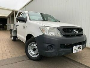2010 Toyota Hilux TGN16R MY10 Workmate 4x2 White 5 Speed Manual Cab Chassis Port Adelaide Port Adelaide Area Preview