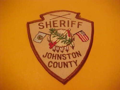 JOHNSTON COUNTY OKLAHOMA POLICE PATCH SHOULDER SIZE UNUSED