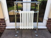 Traditional Radiator with Towel Rail and Valves