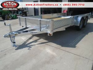ALUMINUM 7 X 16' QUALITY TRAILER WITH SIDE LOADING RAMPS