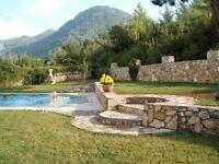 Luxury 3 Bedrm Villa in green Yesiluzumlu village, near Fethiye, Mugla, Turkey. Tranquil getaway.