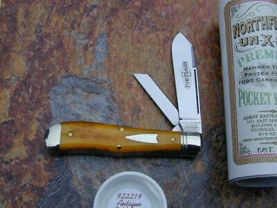 GREAT EASTERN GEC NORTHFIELD ANTIQUE CAMEL BONE EUREKA JACK KNIFE MIT 922219