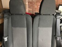 Nearly new Ford Transit seats with runners - excellent condition