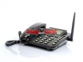 Wireless GSM Desk Phone Quadband SIM Card SMS