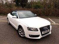 2011 AUDI A5 CONVERTIBLE TFSI CABRIOLET WHITE LOW MILEAGE 66K FULL SERVICE HPI CLEAR NOT E350 330i