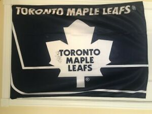 Autographed Toronto Maple Leafs Flag & accesories