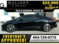 2013 Honda Civic Si COUPE $149 bi-weekly APPLY NOW DRIVE NOW