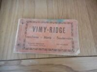 Vimy ridge Postcard book