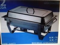 HOT FOOD BUFFET WARMER / CHAFER.9 LITRE. STAINLESS STEEL. NEW. Home/Business/Party/Wedding/Catering.