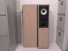 100W Mission M702e Stereo Speakers in Light Brown - Heathrow