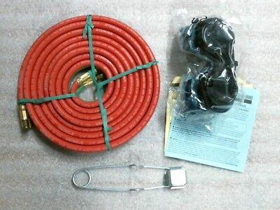 Nib Uniweld Gas Welding Oxygen Oxy Acetylene Kit Hose Striker Goggles