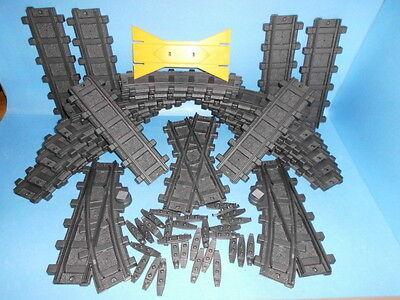 Playmobil RC Eisenbahn 14 gebogene 6 gerade 2 Weichen 1 Kreuzung Verbinder(5165)