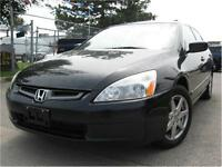 2003 Honda Accord EX 145KM BLACK/BLACK LEATHER - SUNROOF