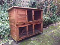 Double storey rabbit hutch