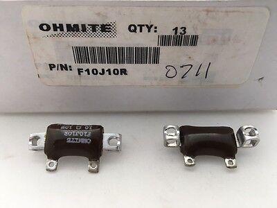 F10j10r Ohmite 10 Watt 10 Ohm 5 Stackablewirewound Resistorchassis Mount
