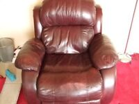 2 leather electric recliner chairs