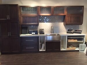 New Solid Walnut Showroom Kitchen for Sale