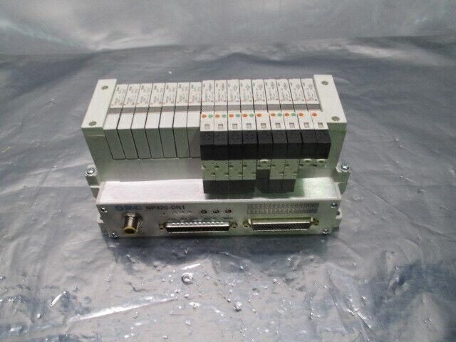 SMC VV5Q11-ULB990070, 16 Valve Pneumatic Manifold w/ NP420-DN1, 329856