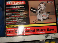 "10"" COMPOUND MITRE SAW WITH STAND"