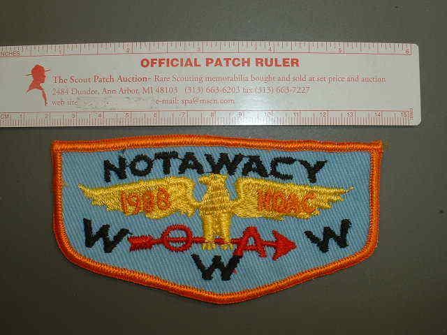 Boy Scout Lodge 205 Notawacy flap 7775J