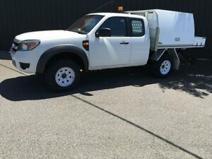 2011 Ford Ranger PK XL Hi-Rider White 5 Speed Manual 4D Cab Chassis Moorabbin Kingston Area Preview
