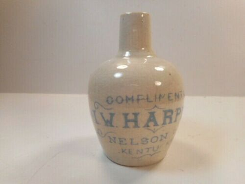 Antique Early 20th c. I.W. Harper Nelson Co. Kentucky Miniature Whiskey Jug