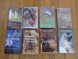 Lot de 8 romans de Denis Monette (réservé)