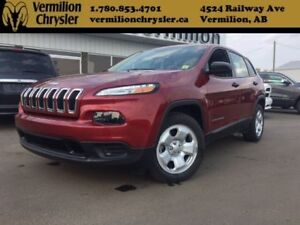 2017 Jeep Cherokee Sport, Remote Start, ONLY 14,000KM!