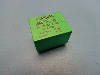 (1) Guardian 1715HS-1C-12D 12VDC Relay SPDT 320 OHM COIL RESISTANCE Through Hole