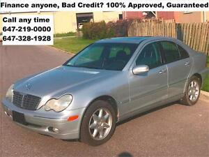 2001 Mercedes-Benz C-Class C320 FINANCE 100% APPROVED WARRANTY