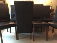 8x Faux Leather Dining Chairs