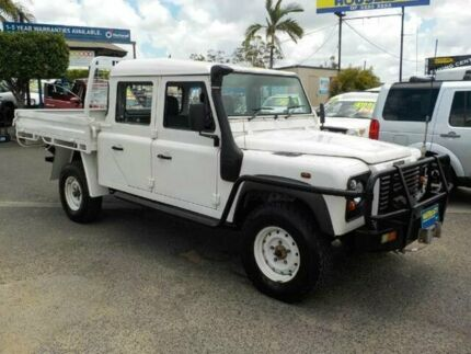 2005 Land Rover Defender 130 03MY Crew Cab White 5 Speed Manual Cab Chassis