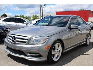 2011 MERCEDES C300 4MATIC CLEAN CARPROOF, XENON, CUIR VERITABLE