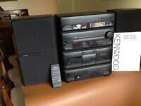 Kenwood M26 Midi Compact tuner/CD player/cassette deck and speakers
