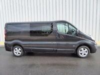 Vauxhall Vivaro 2.9T CDTI Sportive LWB, Black, Crew Bus Seat Rails and Privacy Glass Side Windows