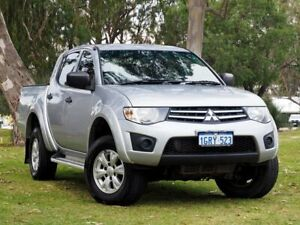 2013 Mitsubishi Triton MN MY14 GLX Double Cab Silver 5 Speed Manual Utility Myaree Melville Area Preview