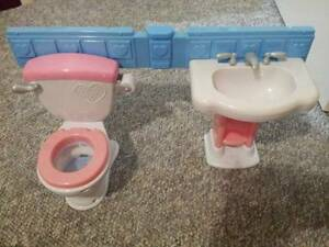 Fisher Price: TOILET & BASIN has handle that flushes, with sounds Orelia Kwinana Area Preview