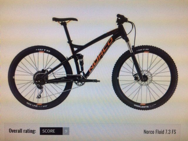 Full Suspension Norco Fluid 7.3 Mountain Bike - Brand New & Un-Used