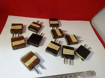 Lot Vintage Quartz Crystal Resonators Mil Spec Frequency Control Radio 6v-a-22