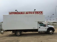 2013 F550 4X4  16FT CUBE VAN WITH 4FT OVER CAB DIESEL