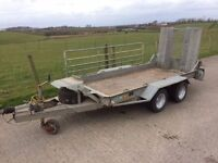 Ifor Williams plant trailer gh94