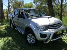 2011 Mitsubishi Triton MN MY11 GL-R (4x4) Silver 4 Speed Automatic Dual Cab Utility Coonamble Coonamble Area Preview