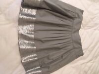 Theory silver skirt