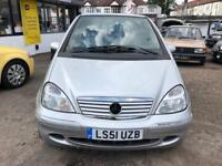 2002 Mercedes A class A160 1.6 AUTOMATIC, Elegance, LOW MILEAGE, 07710 870813