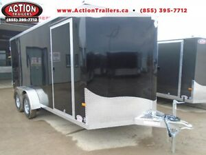 Light weight,all Aluminum 7 X16 Cargo Trailer with Custom Wheels
