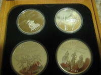 OLYMPIC COIN 'S SILVER SET WITH BOX FOR SALE