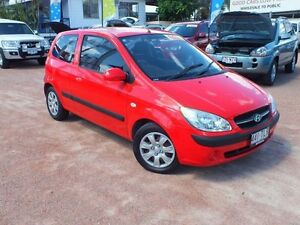 2008 Hyundai Getz TB MY09 S Hip Hop Red 5 Speed Manual Hatchback Rosslea Townsville City Preview