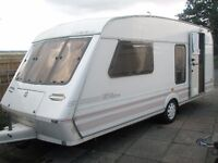 1996 Fleetwood Colchester 4 berth caravan with full awning
