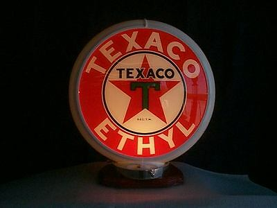 gas pump globe TEXACO ETHYL reproduction 2 glass lense in a plastic body NEW